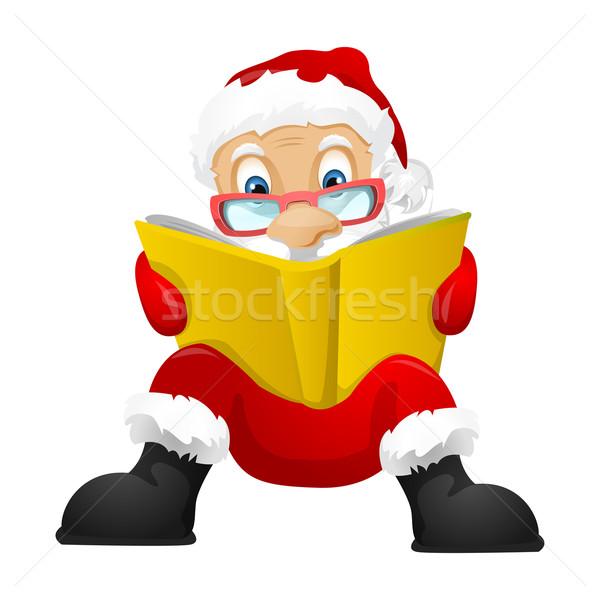 Kerstman geïsoleerd grijs helling vector Stockfoto © RAStudio