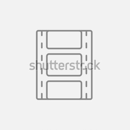 Filmstrip with image thin line icon Stock photo © RAStudio