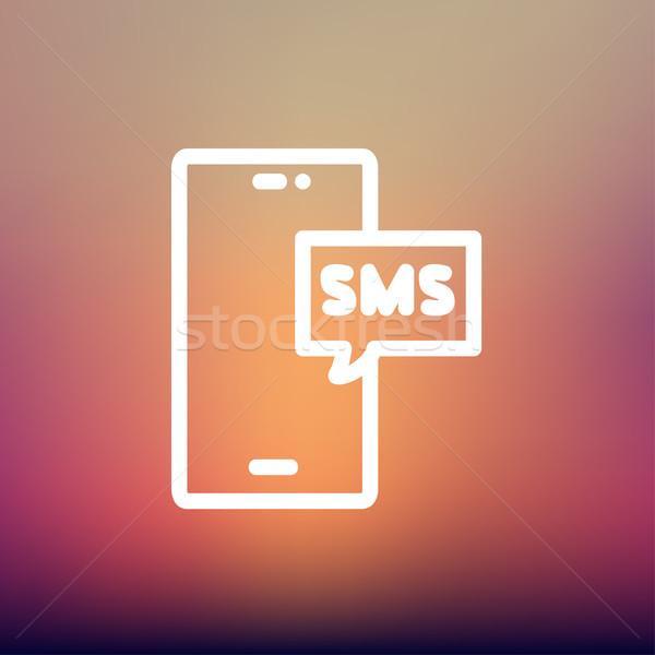 Mobiltelefon sms konzerv fogad küld üzenetek Stock fotó © RAStudio