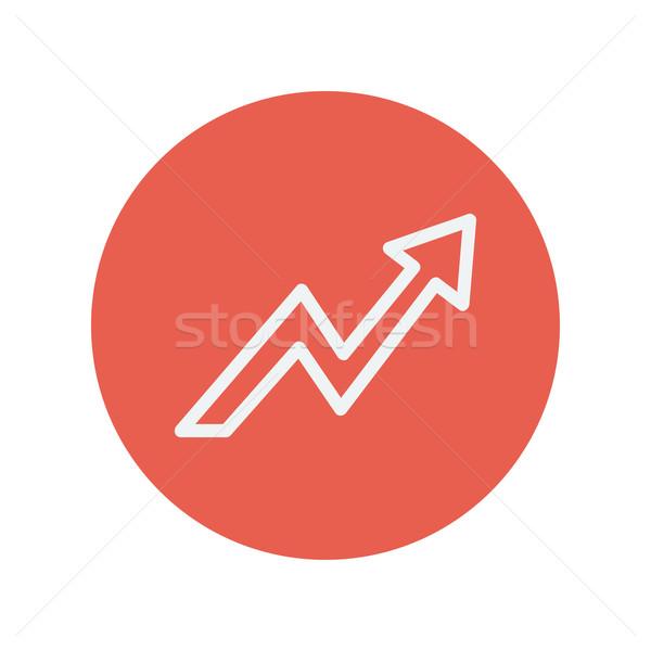 Stockfoto: Bliksem · pijl · dun · lijn · icon · web