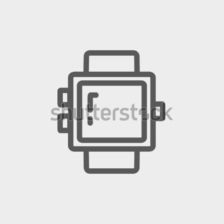 Blank smartwatch thin line icon Stock photo © RAStudio