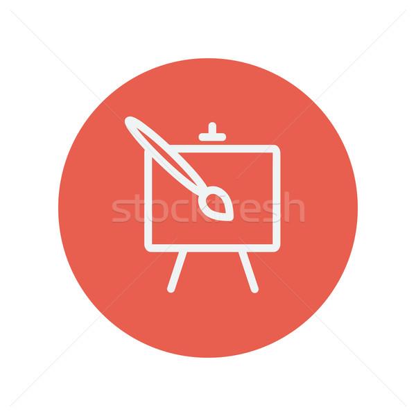 Art thin line icon Stock photo © RAStudio