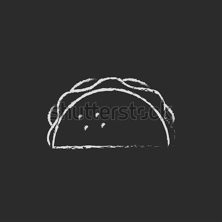 Tacos kroki ikon web hareketli Stok fotoğraf © RAStudio