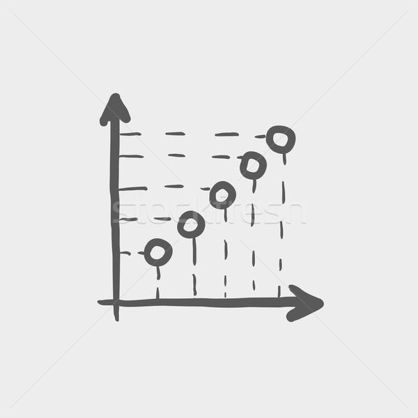 Arrows indicating information sketch icon Stock photo © RAStudio