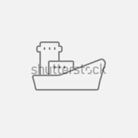 Pétrolières plate-forme icône craie Photo stock © RAStudio
