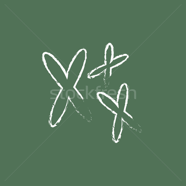Chromosomes icon drawn in chalk. Stock photo © RAStudio