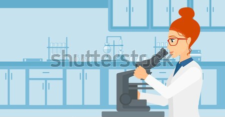 Laboratorium assistent radioactieve plant asian hand Stockfoto © RAStudio