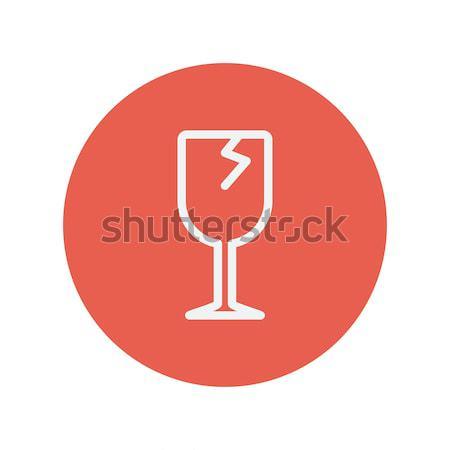 Cracked glass line icon. Stock photo © RAStudio
