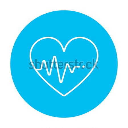 Heart with cardiogram line icon. Stock photo © RAStudio