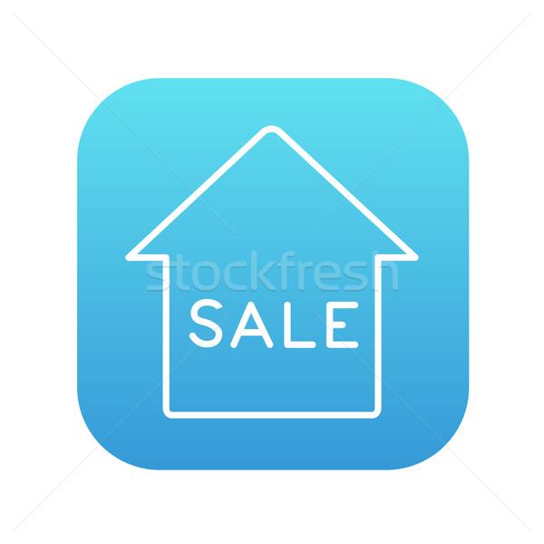 Сток-фото: дома · продажи · линия · икона · веб · мобильных