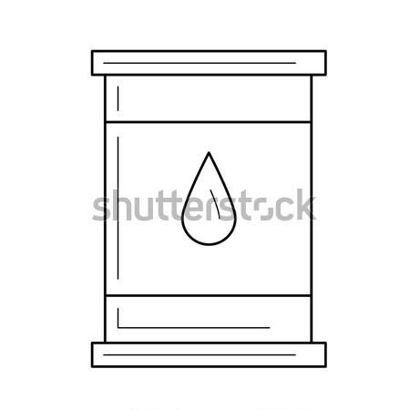 Oil barrel line icon. Stock photo © RAStudio