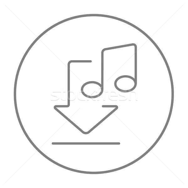 Download Musik line Symbol Web mobile Stock foto © RAStudio