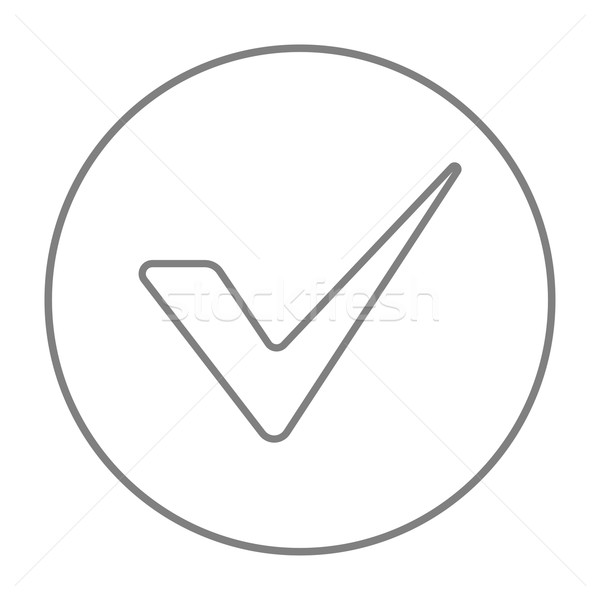 Tick line icon. Stock photo © RAStudio