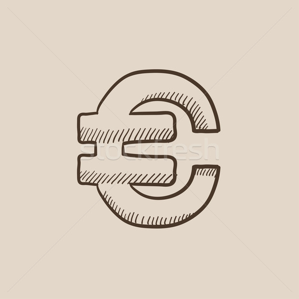Euro symbol sketch icon. Stock photo © RAStudio