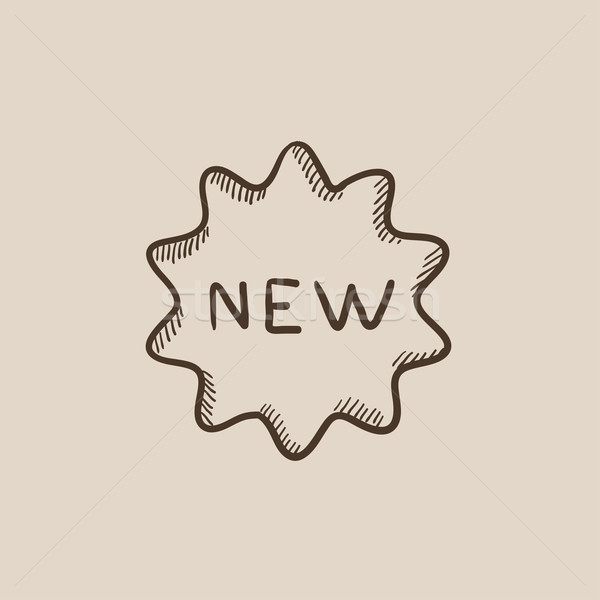 New tag sketch icon. Stock photo © RAStudio