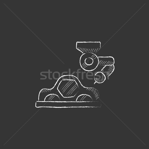 Car production. Drawn in chalk icon. Stock photo © RAStudio