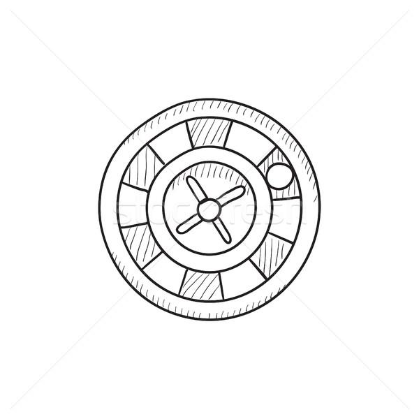 Ruota della roulette sketch icona vettore isolato Foto d'archivio © RAStudio