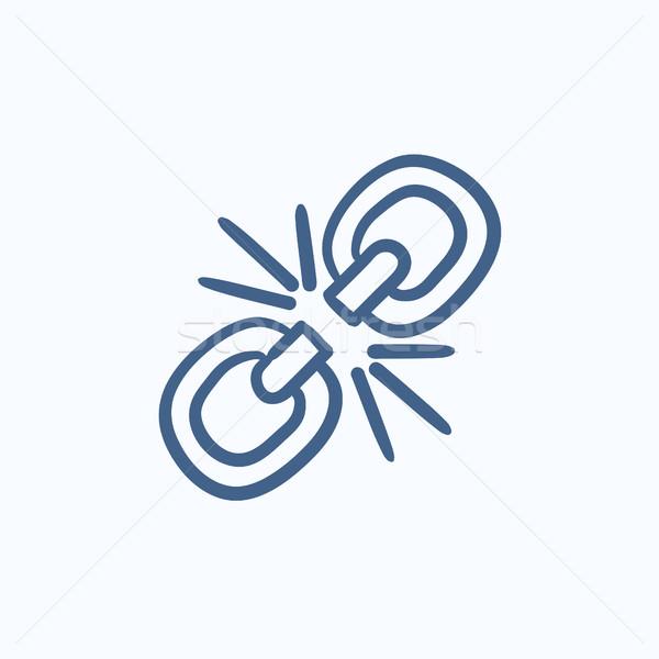 Broken link sketch icon. Stock photo © RAStudio