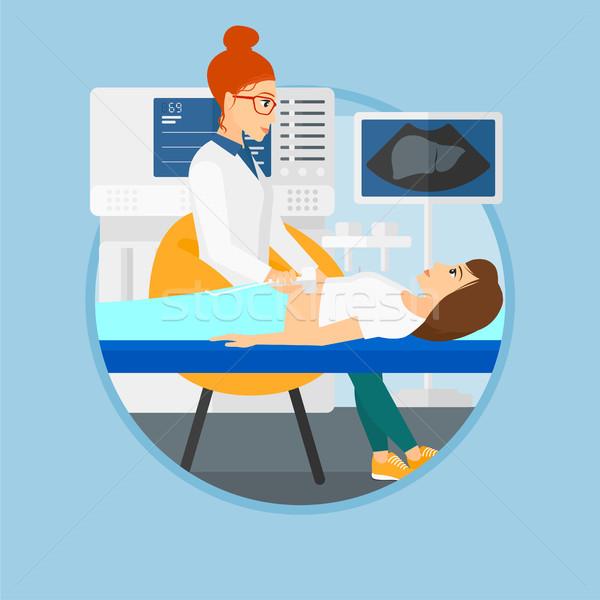 Patiënt ultrageluid onderzoek arts onderzoeken intern Stockfoto © RAStudio