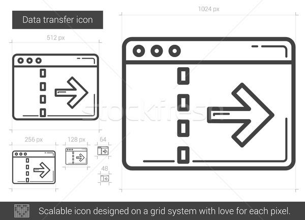 данные передача линия икона вектора изолированный Сток-фото © RAStudio