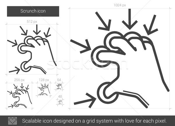 Scrunch line icon. Stock photo © RAStudio