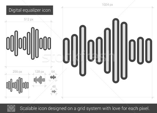 Digital ecualizador línea icono vector aislado Foto stock © RAStudio