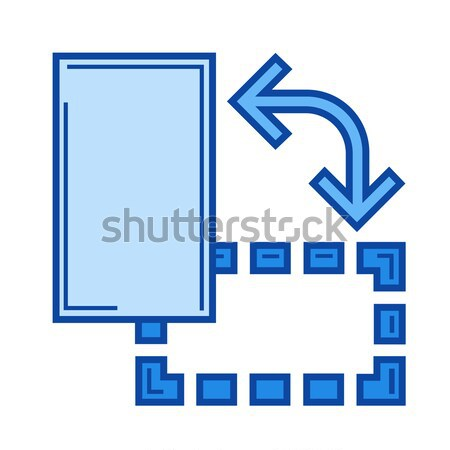 Nesne döndürmek hat ikon vektör yalıtılmış Stok fotoğraf © RAStudio