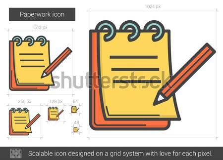Papelada linha ícone vetor isolado branco Foto stock © RAStudio