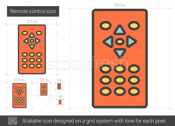 Télécommande ligne icône vecteur isolé blanche Photo stock © RAStudio