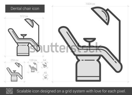 Dental chair line icon. Stock photo © RAStudio