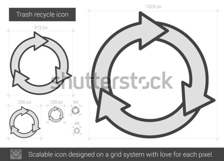 Trash recycle line icon. Stock photo © RAStudio