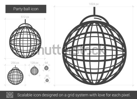 Party ball line icon. Stock photo © RAStudio