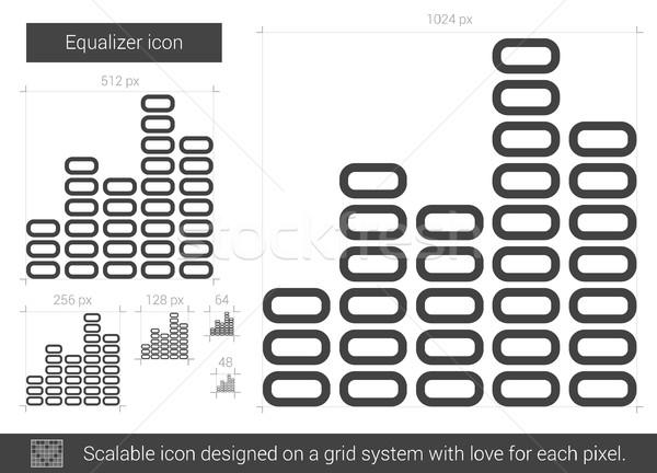 Ecualizador línea icono vector aislado blanco Foto stock © RAStudio
