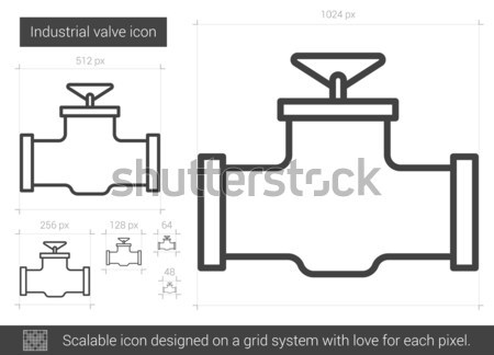 Industrial valve line icon. Stock photo © RAStudio