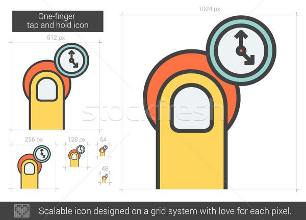 Robinet tenir ligne icône vecteur isolé Photo stock © RAStudio