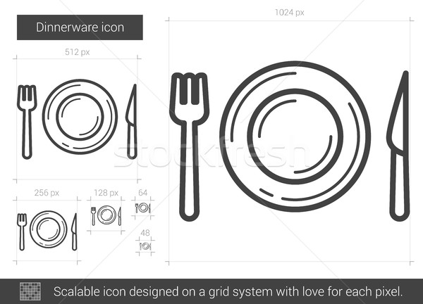 Dinnerware line icon. Stock photo © RAStudio