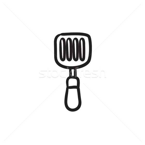 Cuisine spatule croquis icône vecteur isolé Photo stock © RAStudio