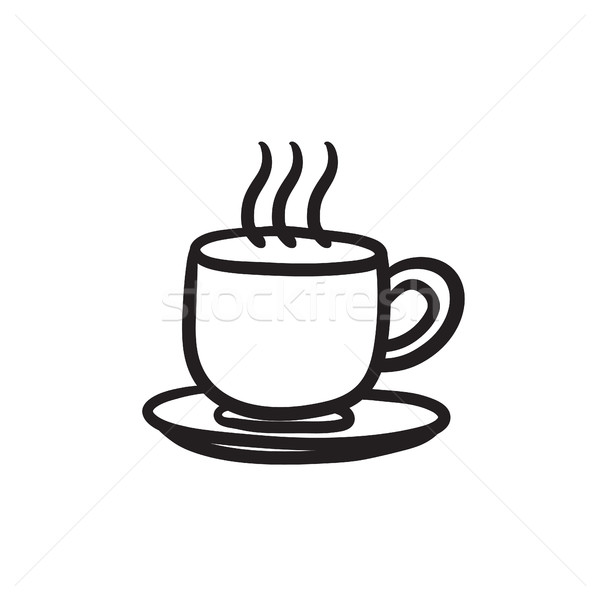 Cup of hot drink sketch icon. Stock photo © RAStudio