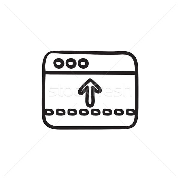 Browser window with arrow up sketch icon. Stock photo © RAStudio