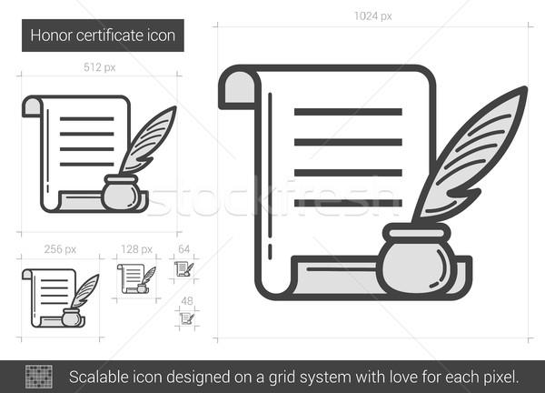 Onur sertifika hat ikon vektör yalıtılmış Stok fotoğraf © RAStudio