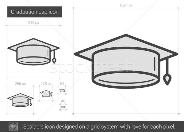 окончания Cap линия икона вектора изолированный Сток-фото © RAStudio