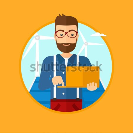 Blood pressure measurement vector illustration. Stock photo © RAStudio