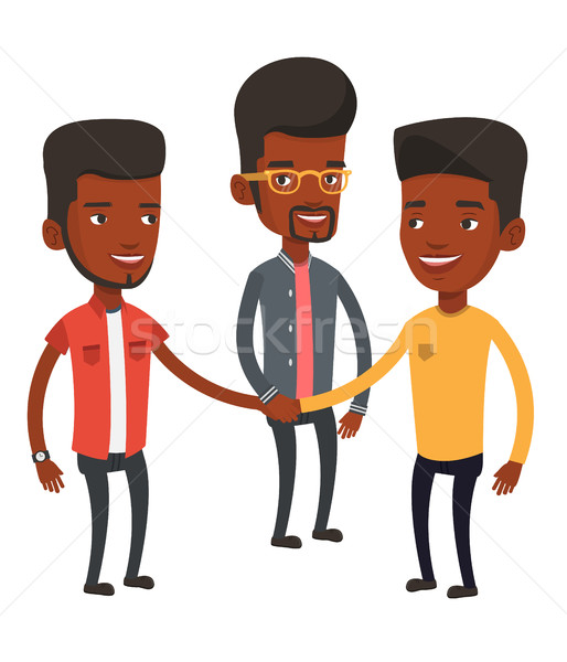 Group of businessmen joining hands. Stock photo © RAStudio