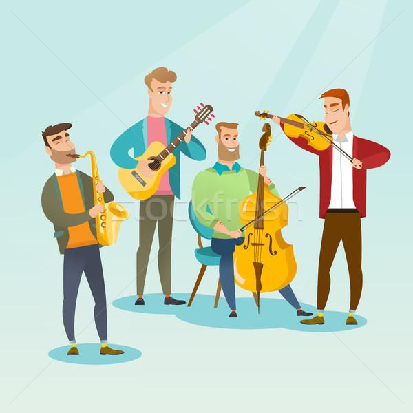 バンド ミュージシャン 演奏 楽器 グループ 小さな ストックフォト © RAStudio