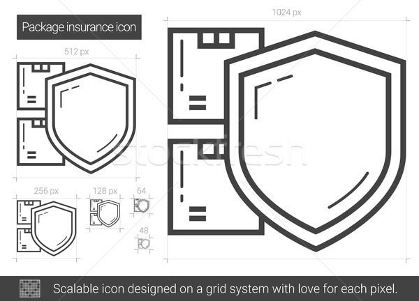 Paquet assurance ligne icône vecteur isolé Photo stock © RAStudio