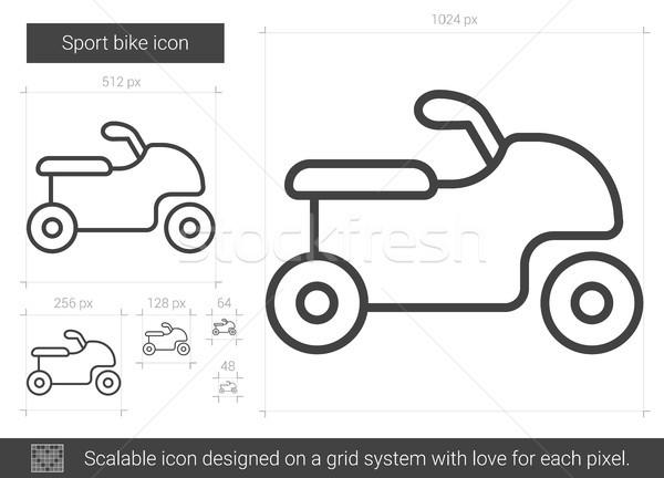 Sport bicikli vonal ikon vektor izolált Stock fotó © RAStudio