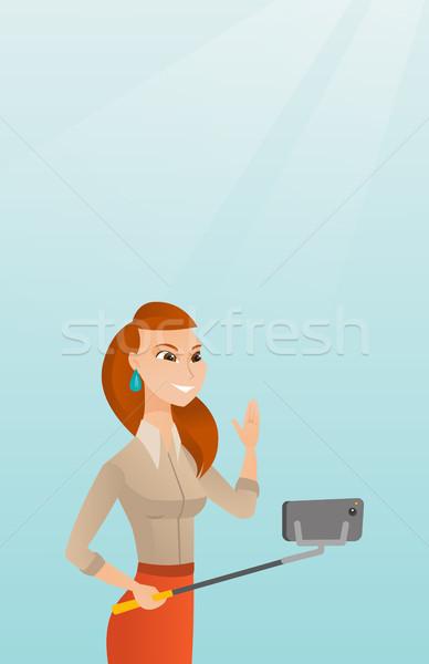 молодые кавказский человека деловой женщины Сток-фото © RAStudio