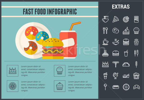 Fast food infographic template and elements. Stock photo © RAStudio
