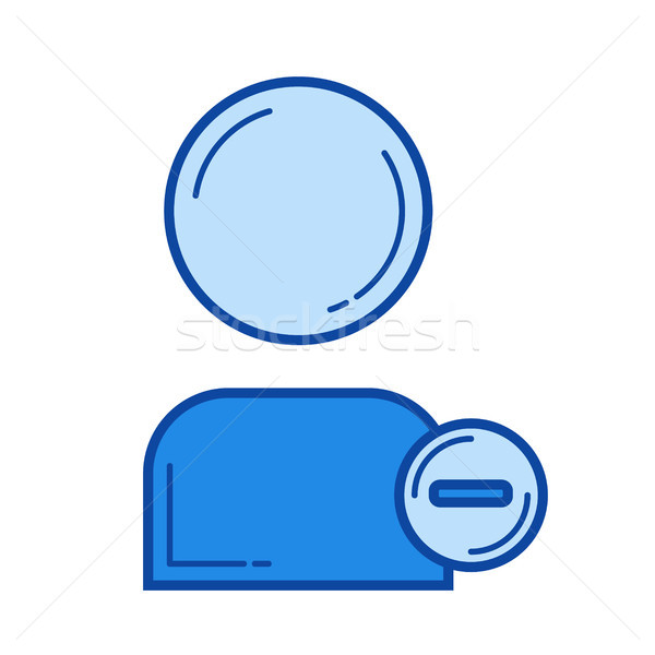 Delete user line icon. Stock photo © RAStudio