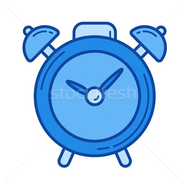 Alarm clock line icon. Stock photo © RAStudio
